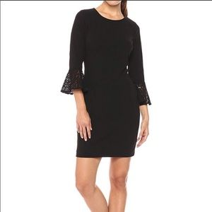 NWT Tommy Hilfiger Black Bell Sleeve Dress Size 4